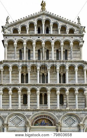 Detail Of Pisa Cathedral Facade