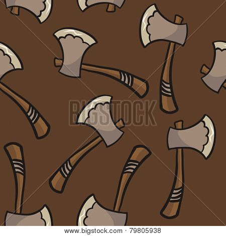 axe seamless pattern