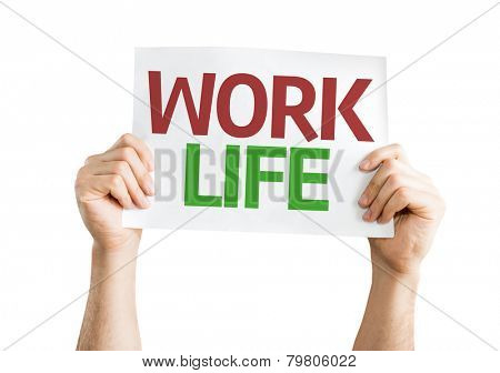 Work Life card isolated on white background