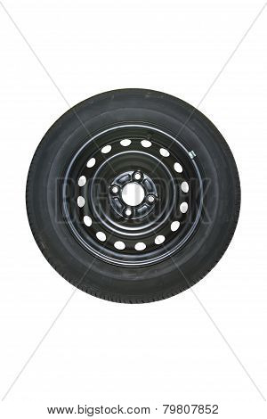 Spare Tire Isolated On White.