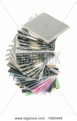 Cd Dvd Piled Up