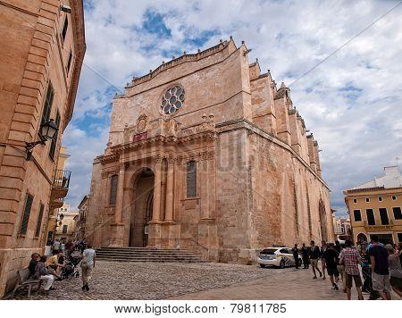 Ciudadela De Menorca, Spain - September 23 Santa Maria De Ciudadela Cathedral, In Ciudadela De Menor