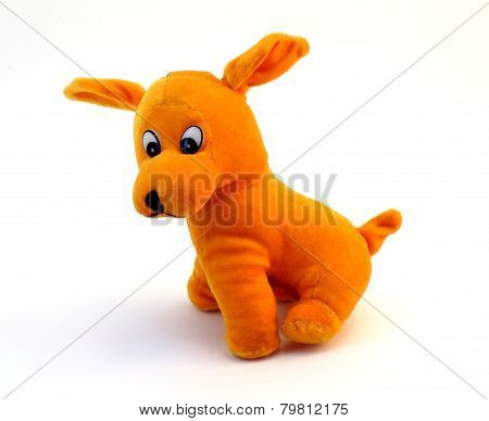 soft toy - orange dog with long ears