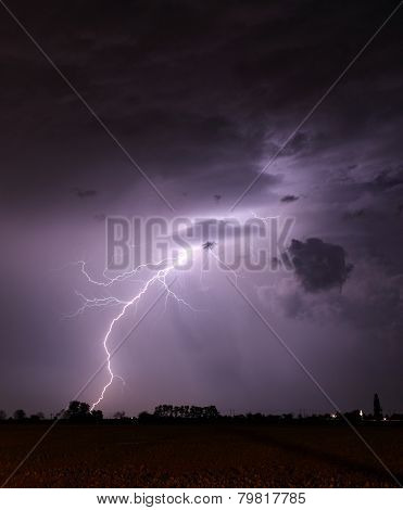 Storm With Lightning - Landscape