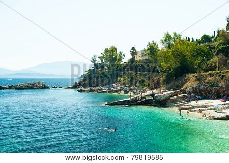 Kassiopi Beach, Corfu Island, Greece.