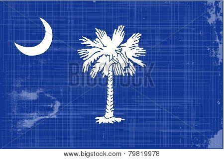South Carolina Flag Grunge