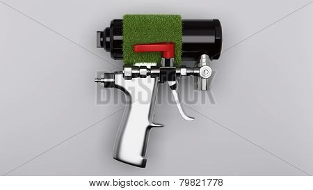 Spray foam gun