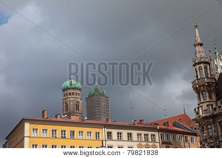 Restoration Church Frauenkirche Two Towers Of The