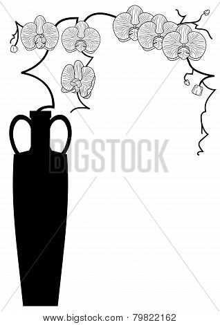 Vase With Orchid