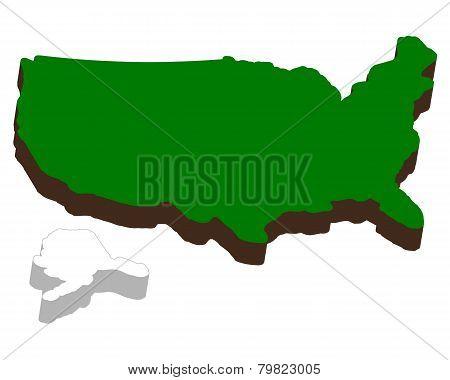 Volumetric Map Of America