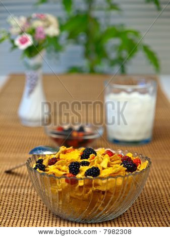 Corn Flakes Breakfast