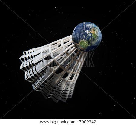 Earth shuttlecock