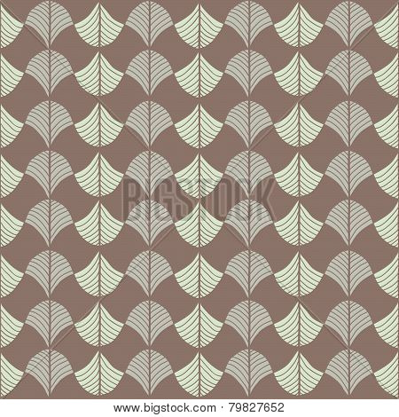 Abstract Traditional African Ornament. Warm brown colors. Seamless vector pattern.