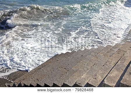 Seashore At Crete