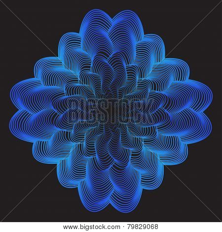 Abstract Geometric Vector Background From Broken Blue Gradient Colored Lines