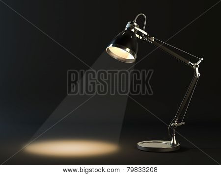 Lampshade In A Dark Background