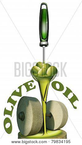Stone olive press