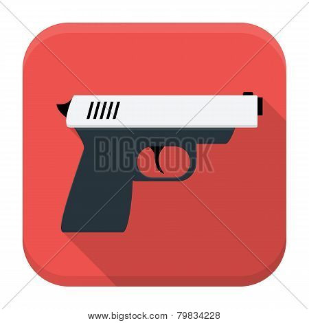 Action Movie App Icon With Long Shadow