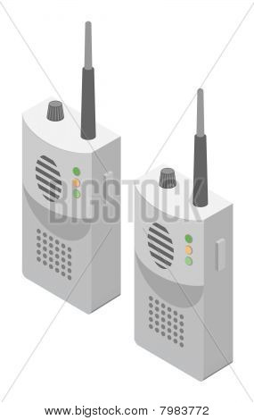 Pair of walkie talkies