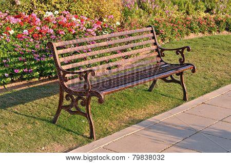 The garden chair in evening light