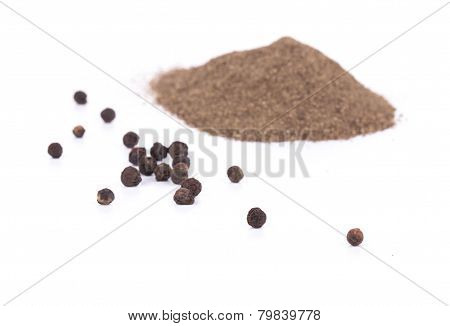 Pile of ground pepper.