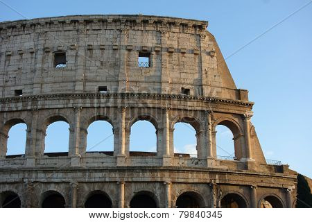 Coliseum Detail , Rome ,italy