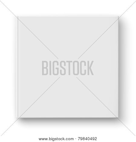 Blank square album template.