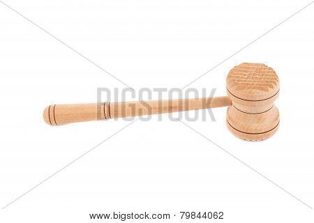 Wooden meat mallet.