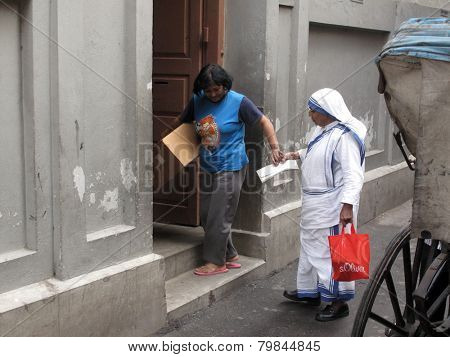 KOLKATA, INDIA - JANUARY 23: Mother House, the residence of Mother Teresa and headquarters of Missionaries of Charity in Kolkata, West Bengal, India on January 23,2009.