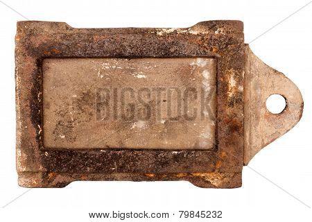 Rusty Vintage Stove Damper