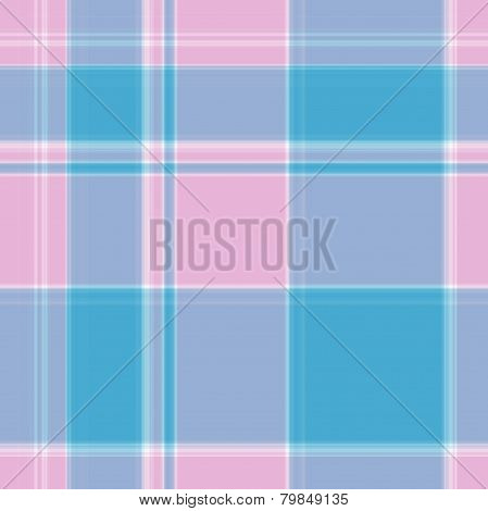 Gingham Pattern In Blue, Pink And White