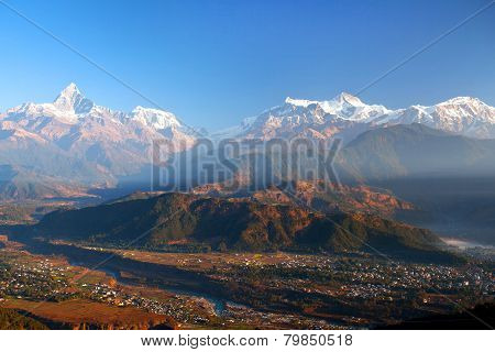 Himalayan mountains from Sarangkot, Nepal