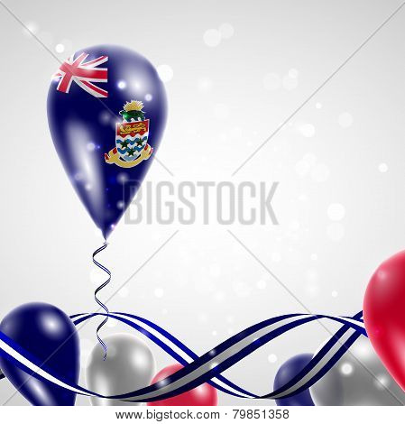 Flag of the Cayman Islands on balloon