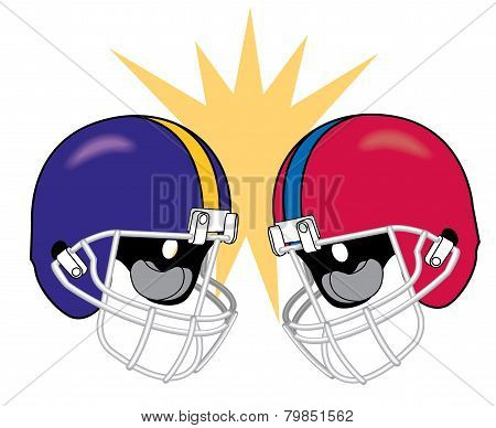 Crashing Football Helmets