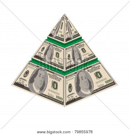 pyramid 1D-vector illustration