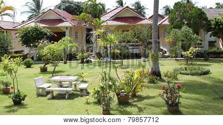 Bungalow Of The Island Of Koh Samui, Thailand