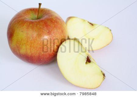 Ripe Apple Fruits On White Background