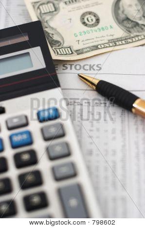 Stock market data analysis, financial