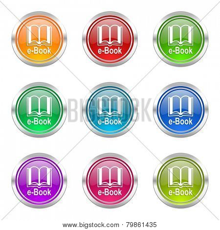 book icons set e-book sign