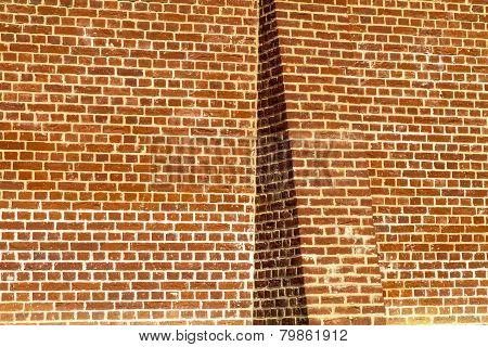 Butressed Plain Brick Wall