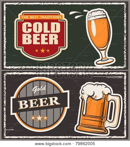 Two Beer Emblems