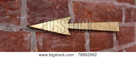 Hand drawn arrows on brick wall. Background