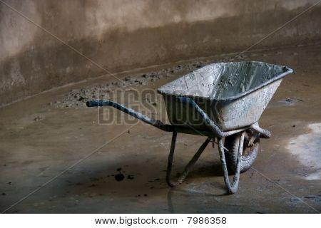 dirty wheelbarrow