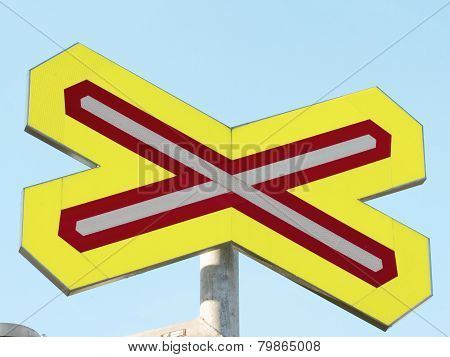 Crossing sign for trains