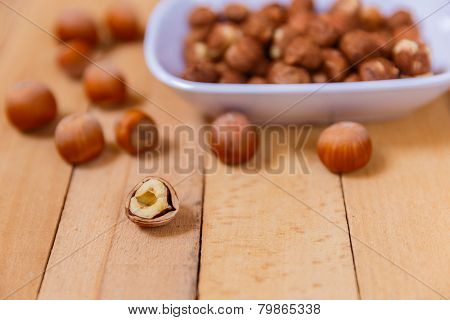 Peeled Nuts In Ceramic Ware