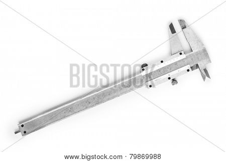 Vernier caliper (slide gauge) isolated on white