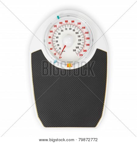 Scales On White Background