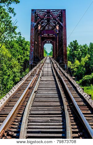 Vanishing Point View of an Old Railroad Trestle