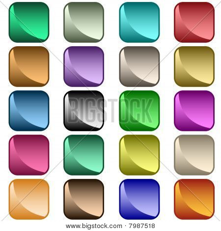 Web buttons 20 assorted colors