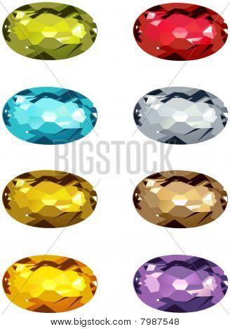 oval cut stones